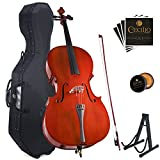 Cecilio CCO-100 Student Cello with Hard & Soft Case, Stand, Bow, Rosin, Bridge and Extra Set of Strings, Size 1/2
