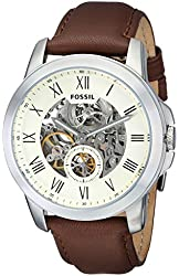 Fossil Men's ME3052 Grant Two-Hand Automatic Self Wind Leather Watch - Brown