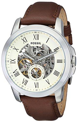 FossilME3052 –Reloj para hombre de piel, color marron