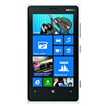 Nokia Lumia 920 Factory Unlocked, Windows Phone 8, 32GB, Carl Zeiss -White-
