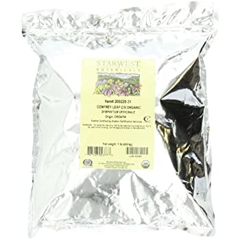 Starwest Botanicals Organic Comfrey Leaf Cut and Sifted, 1 Pound Bulk Bag