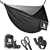 Covacure Camping Hammock with Mosquito Net - Lightweight Double Hammock,Hold Up to 772lbs,Portable Hammocks for Indoor,Outdoor, Hiking, Camping, Backpacking, Travel, Backyard, Beach