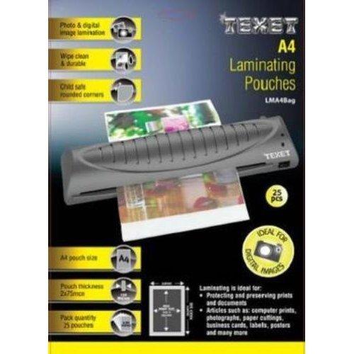 2 X Texet A4 Laminating Pouches