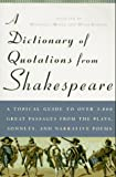 A Dictionary of Quotations from Shakespeare, William Shakespeare, 0452011272