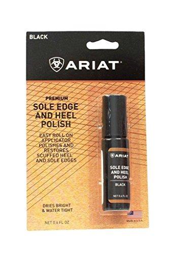 Ariat Sole Edge and Heel Polish,Black,One (Ariat Black Water)