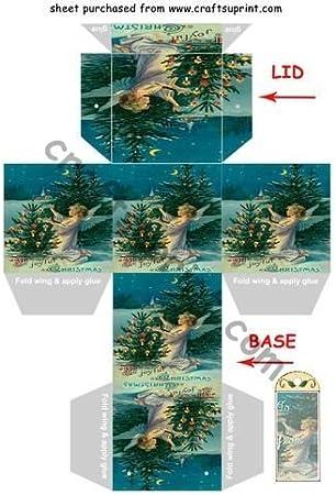 Ángel del Claro De Luna Con Caja Regalo de Navidad árbol de Navidad árbol de Navidad & decoración por Clive cubitière: Amazon.es: Hogar