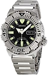 "Seiko Men's SKX779 ""Black Monster"" Automatic Dive Stainless steel Watch"