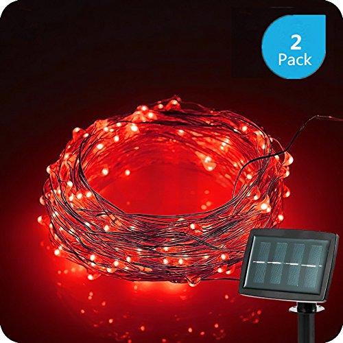 Red Solar Led String Lights - 2