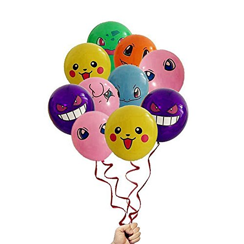 21 Count Pokemon Latex Balloons 12
