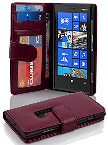 Cadorabo - Book Style Wallet Design for Nokia Lumia 920 with 2 Card Slots and Money Pouch - Etui Case Cover Protection in (Cover Case Nokia Lumia 920)