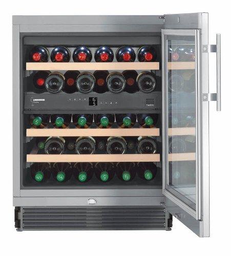 Liebherr PAL - UWTes 1672 Vinidor Weinkühlschrank (Einbau) / B / 87 cm / 34 flaschen Kühlteil/Bei Störung: akustisches und optisches Signal