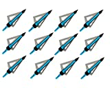 Sososhoot Killer Points Fixed 3 Blades Broadhead (12Pack, 100 Grain)...