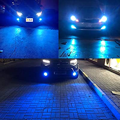 Alla Lighting H8 H16 H11 LED Fog Lights Bulbs 8000K Ice Blue 2800 Lumens Xtreme Super Bright COB-72 12V DRL Replacement for Cars, Trucks: Automotive