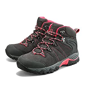 Clorts Women's Hiker Leather GTX Waterproof Hiking Boot Outdoor Backpacking Shoe Grey HKM-822B US8.5