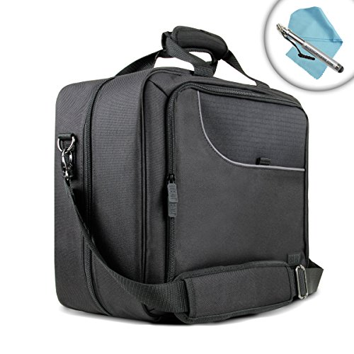 USA Gear Travel Case with Carrying Strap , Padded Scratch-Resistant Lining & Adjustable Compartments for Panasonic Toughbook 33 and More Toughbooks , Laptops & Notebooks up to 15 Inches!