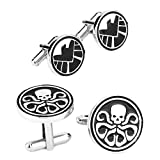 Outlander Gear Marvel Comics 2 Pairs SHIELD & Hydra Superhero 2018 Movie Mens Boys Cufflinks