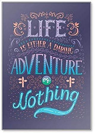 Imán para nevera de aventura o nada: Amazon.es: Hogar