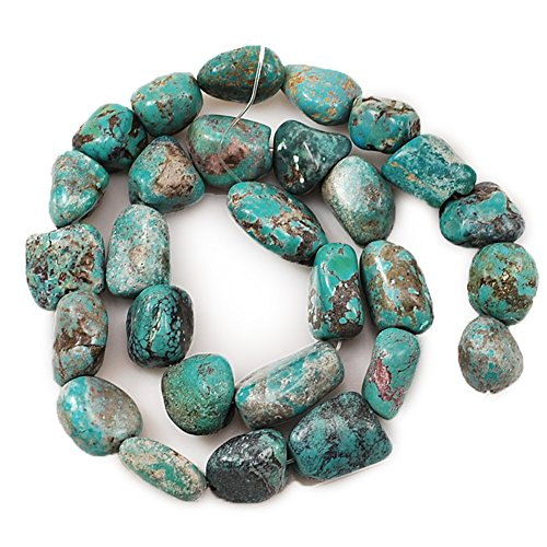 01 Blue Hubei Turquoise Nugget 12x12x9mm-16x14x10mm for Necklace Gemstone Loose Beads 15
