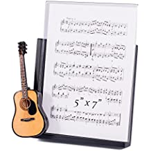 String Guitar with Pick Guard Decorative Classic Black 5x7 Picture Frame