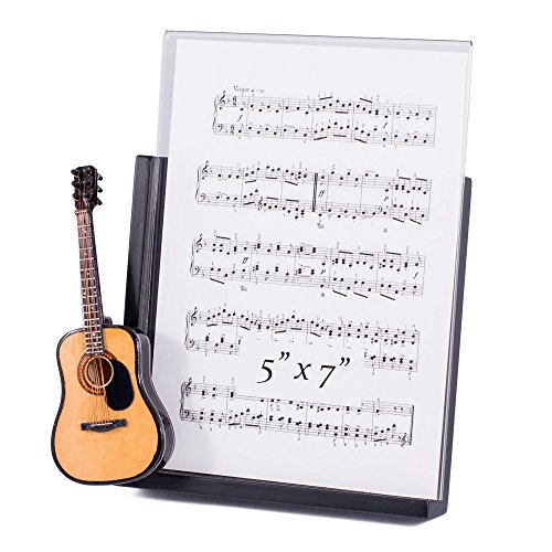 String Guitar with Pick Guard Decorative Classic Black 5x7 Picture (Guard Picture Frame)