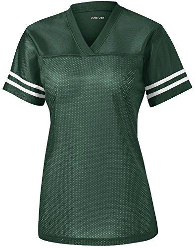 - Joe's USA Ladies Replica Athletic Football Jersey-Green-2XL