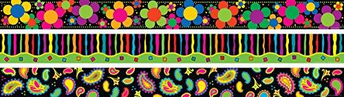 Barker Creek Neon Border Set (Flower Power, Paisley, Stripes) (BC3665)