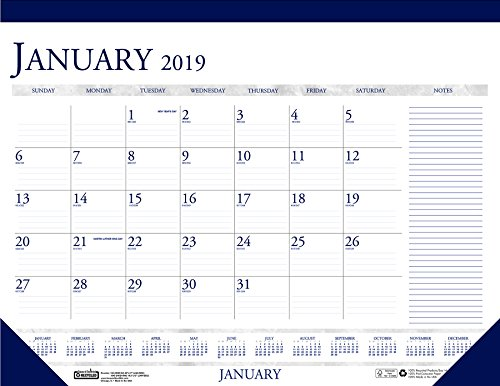 House of Doolittle 2019 Monthly Desk Pad Calendar, Classic with Notes Section, 22 x 17 Inches, January - December ()