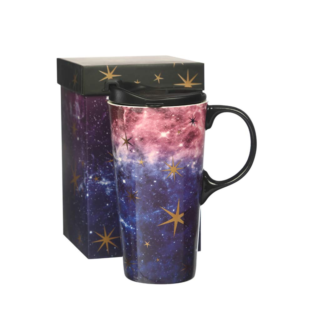 Ceramic Travel Mug Coffee Cup 17 OZ, with Sealed Lid and Gift Box