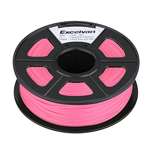 Excelvan New 3D Printer Printing Filament 3mm ABS for Print RepRap MarkerBot 1kg/2.2lbs (3.0mm, Pink) Excelvan Supplies