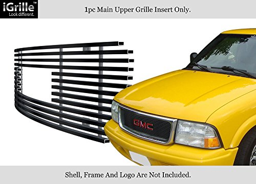 APS for 98-03 GMC Sonoma/S15 Jimmy/S15 Pickup Black Stainless Steel Billet Grille #G65773J ()