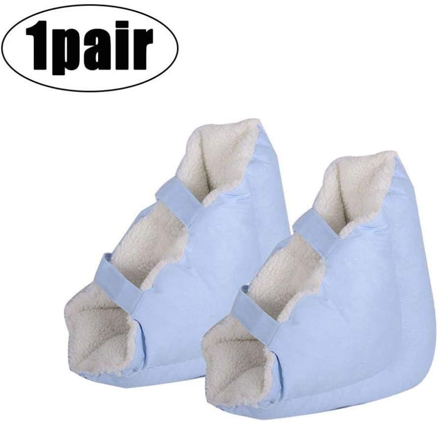 WLDQ 柔らかく快適なヒールプロテクター枕、ヒールフロートヒールプロテクター、Pressure瘡予防のためのアキレス腱プロテクター、高齢者の足補正カバー(1ペア)