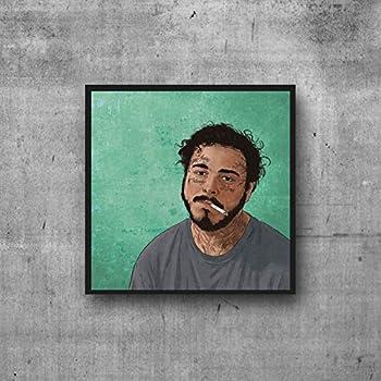 BP Studio Post Malone Poster Artwork Wall Art Illustration (8x8)