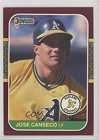 Amazoncom Jose Canseco Baseball Card 1987 Donruss Opening Day