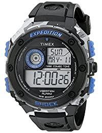Timex Men's TW4B003009J Expedition de acero inoxidable reloj Digital con Negro brazalete de resina