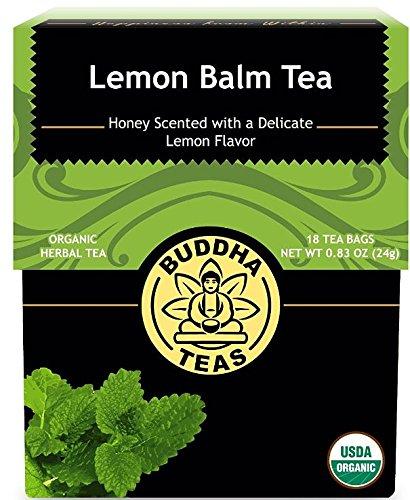 Organic Lemon Balm Tea, 18 Bleach-Free Tea Bags - Caffeine Free Tea Improves Cognitive Function, Aiding Digestion, and Calming Effects, No GMOs ()