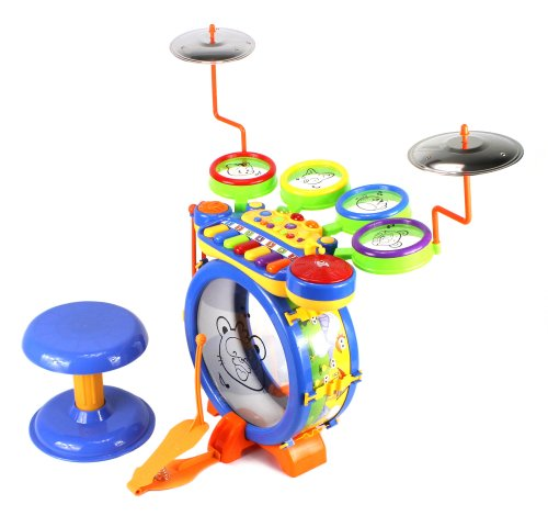 junior-dj-drum-band-2-in-1-childrens-musical-instrument-toy-drum-keyboard-play-set-7-key-piano-w-5-d