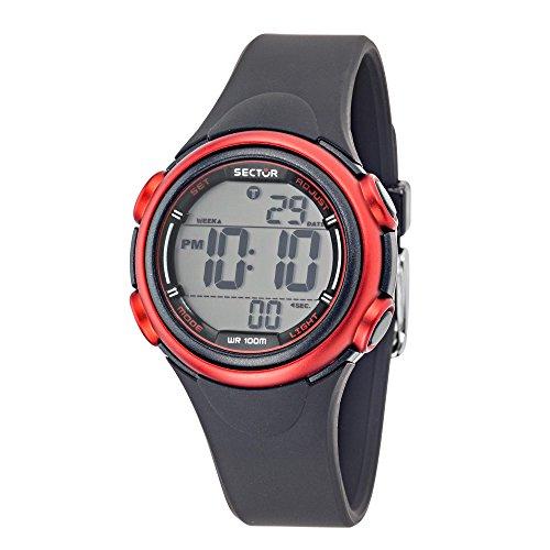 SECTOR Women's Ex-06 Quartz Sport Watch with Resin Strap, Black, 18 (Model: R3251591503