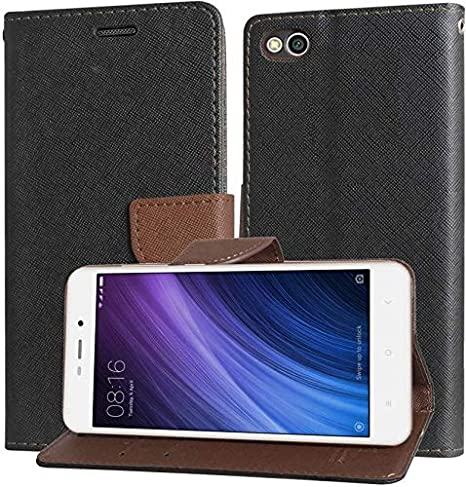 check out 089a2 5171d ORC Luxury Mercury Diary Wallet Style, Flip Cover for Xiaomi Redmi 4A  (Brown)
