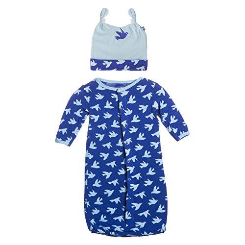 Kickee Pants Bamboo Layette Sack - Preemie & Newborn (Newborn, Kite Flying Bird)
