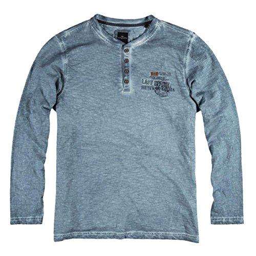 engbers Herren Henley Shirt, 22361, Blau