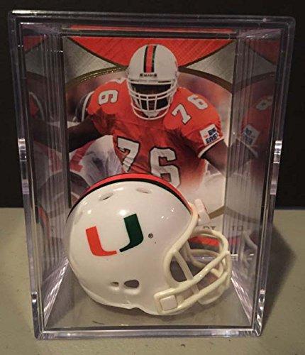Riddell Ncaa Football - Miami Hurricanes NCAA Helmet Shadowbox w/ Warren Sapp card