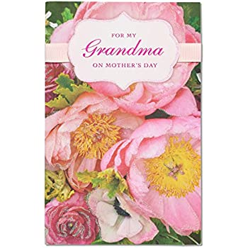 Amazon american greetings pink floral mothers day card for american greetings pink floral mothers day card for grandma with glitter m4hsunfo