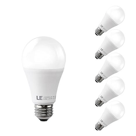 LE Bombilla LED A60 E27 12W=Incandescente 75W, Blanco Cálido, 5 Unidades