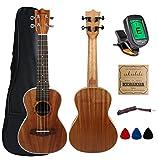 Kulana Deluxe Concert Ukulele, Mahogany Wood with Binding and Aquila Strings + Gig