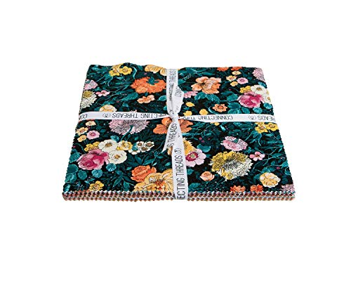 (Connecting Threads Print Collection Precut Quilting Fabric Bundle (Cascade Meadow - 10