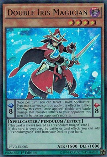 Yugioh 1st Ed Double Iris Magician PEVO-EN003 Ultra Rare 1st Edition Pendulum Evolution Cards