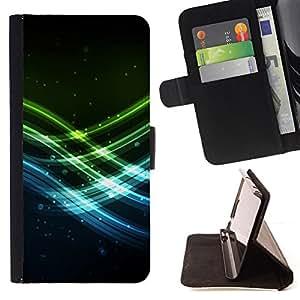 - Neon Waves/ Personalizada del estilo del dise???¡¯???¡Ào de la PU Caso de encargo del cuero del tir???¡¯????n del s - Cao - For Samsung Galaxy S5 V SM-G