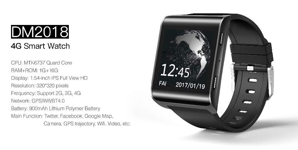 Amazon.com: HWTP Smart Watch - Bluetooth 4.0, WiFi GPS 4G ...