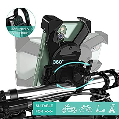 【Upgraded】JOYROOM Bike Phone Mount, ONE-SECOND Lock & Release Bike Phone Holder for iPhone Xs Max XR X 8 7 6 Plus, and Most 4.7-7.0 inch Phone: Automotive