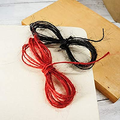 CT CRAFT LLC Bakers Twine String, Natural Jute Twine for Home Decor, Gift Wrapping, DIY Crafts, 1 mm x 100 Yards x 2 Rolls, Black/Red : Office Products